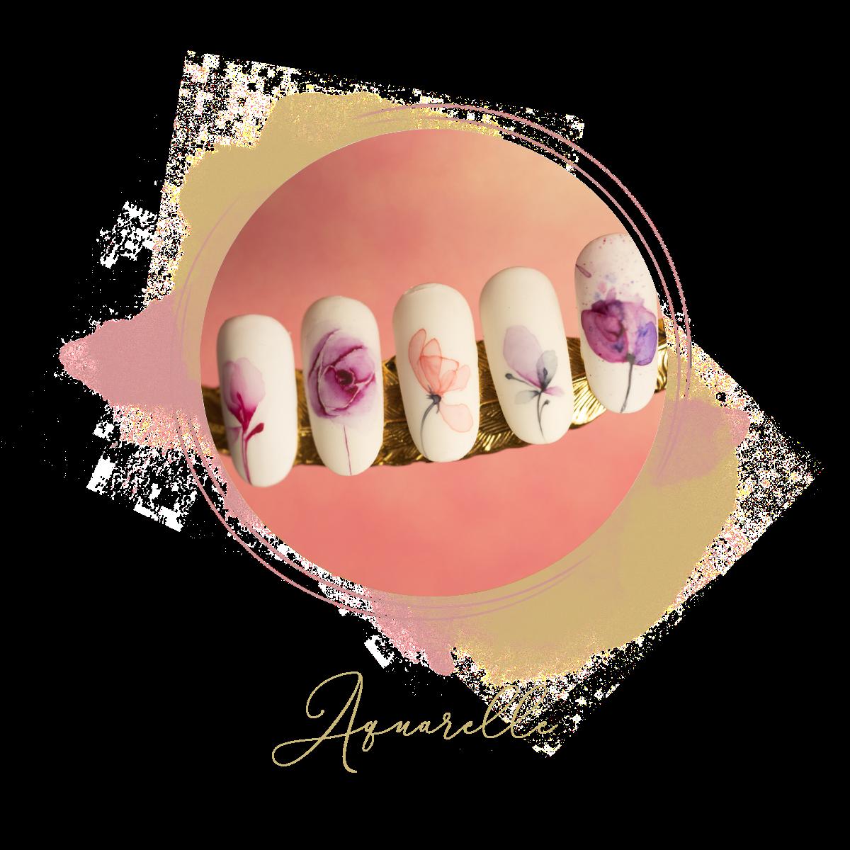 Nail art Aquarelle